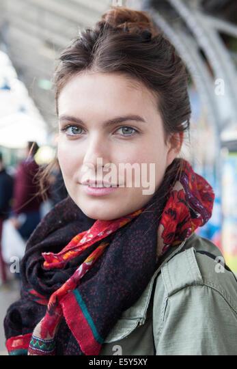 Young woman, portrait - Stock-Bilder