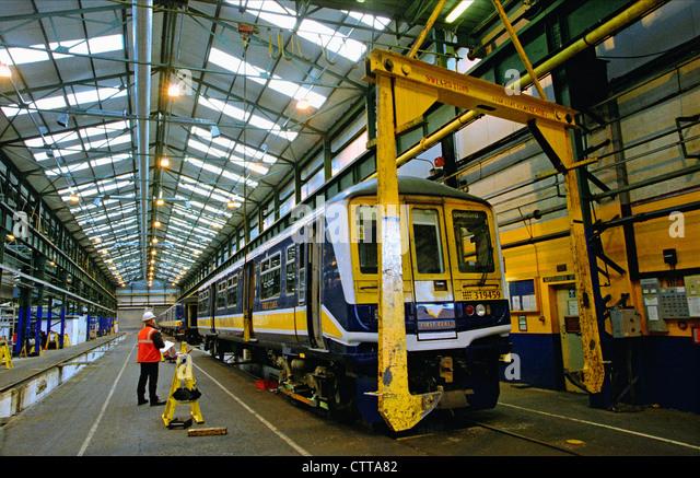 Rail Maintenance, Selhurst depot, London. - Stock Image
