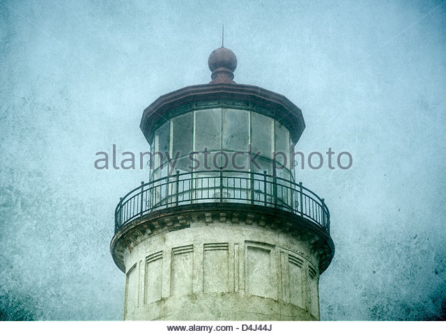 Lighthouse tower at Cape Disappointment State Park, Washington, USA - Stock-Bilder