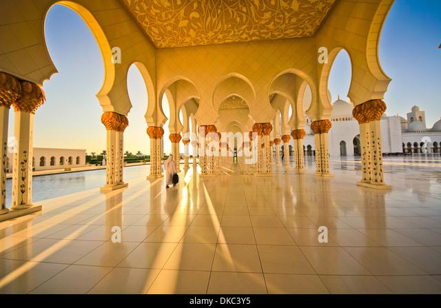 Sheikh Zayed Mosque, Abu Dhabi, . United Arab Emirate - Stock Image