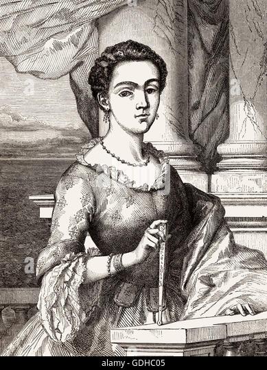 Isabel Godin des Odonais, 1728-1792, led  a search expedition to retrieve her husband Jean Godin, 18th-century - Stock-Bilder