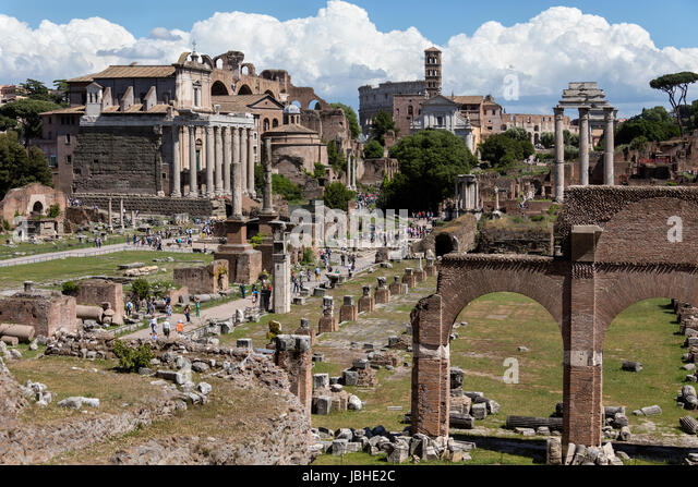 The Roman Forum in the city of Rome, Italy. - Stock Image