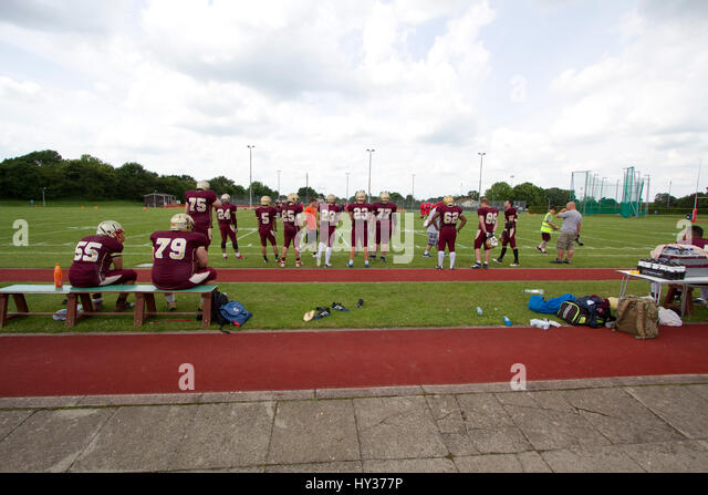 British American football in Suffolk - Stock Image
