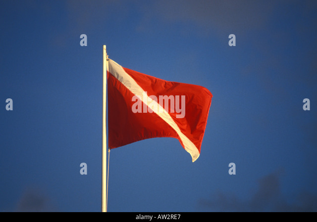 FLAG scuba diver down signal - Stock Image