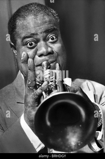 a biography of louis armstrong a jazz musician Louis armstrong is perhaps the most important and influential person in the  history of jazz music, swing music, and jazz vocal styling his virtuosic ability with  the.
