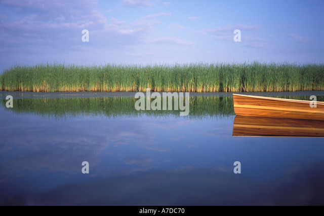 Canoeing in a wetland North Dakota - Stock Image