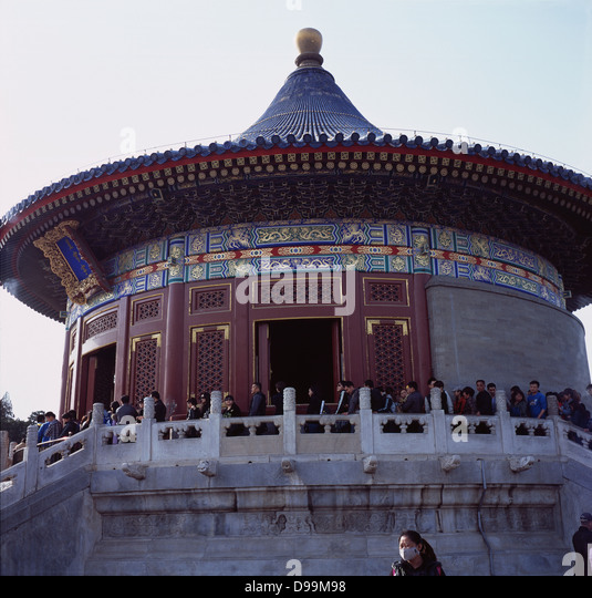 Hall of the Imperial Vault of Heaven - Huangqiongyu, in the Temple of Heaven. Beijing, China. 2013 - Stock Image