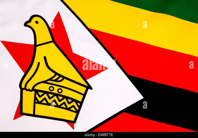 Flag of the Republic of Zimbabwe - Stock Image