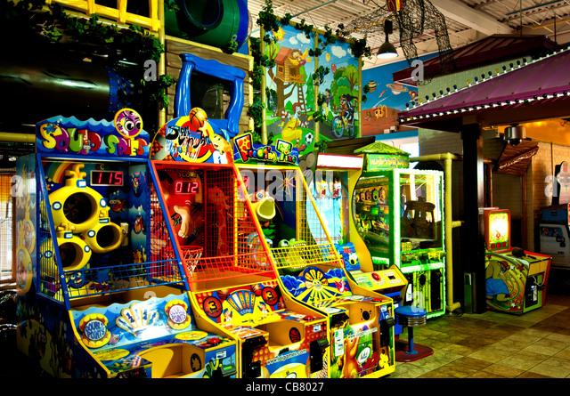 World's Largest Entertainment McDonalds & Play Place interior game aracade Orlando Florida - Stock Image