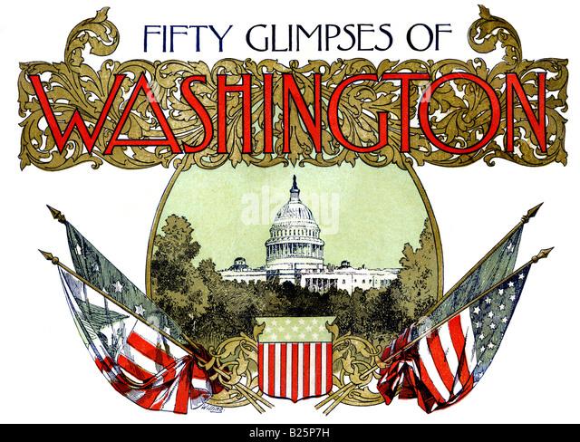 Fifty Glimpses of Washington D.C. - Stock Image