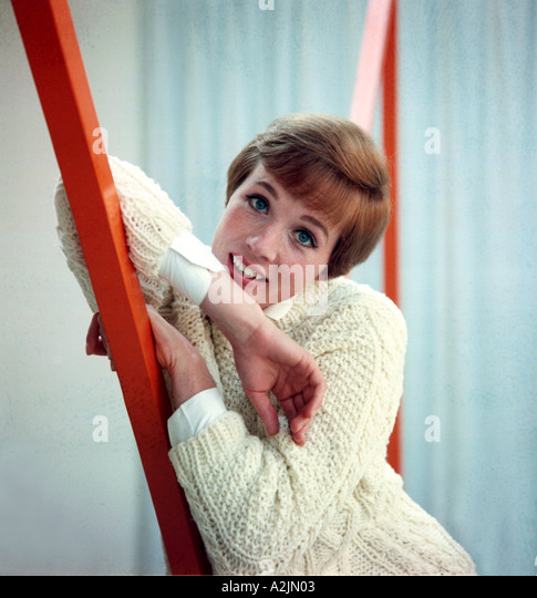 JULIE ANDREWS British star of many Hollywood films born 1935 - Stock Image