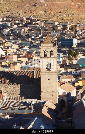 View of Convento de San Francisco, Potosi, UNESCO World Heritage Site, Bolivia, South America - Stock Image