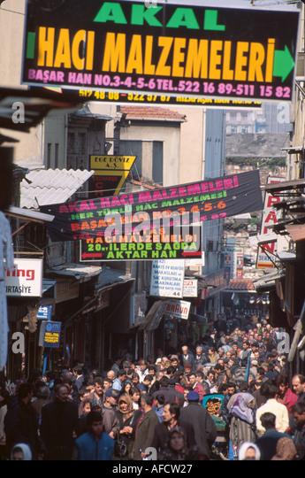 Turkey Istanbul Cagaloglu Quarter Sabuncu Han Cadessi 4000+ shops near Spice Market & Covered Bazaar - Stock Image