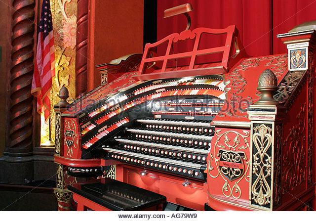 Alabama Birmingham Alabama Theatre organ one of three in world stage - Stock Image
