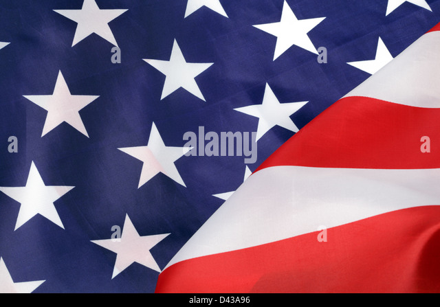 Part of U.S.A. flag, close-up - Stock Image