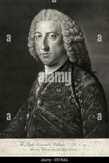 The Right Honourable William Pitt, Esqr. - Stock Image