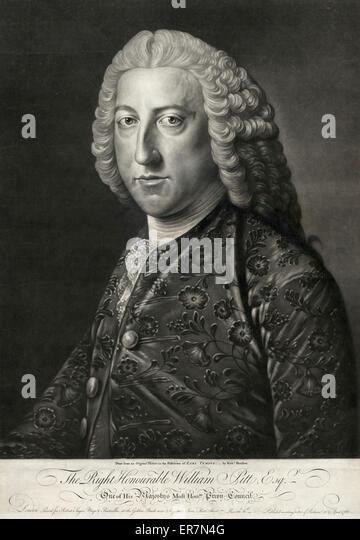 The Right Honourable William Pitt, Esqr. - Stock Image