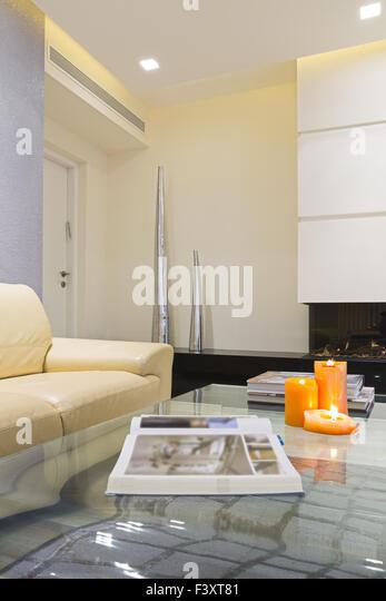 Modern Luxury Living Room - Stock Image