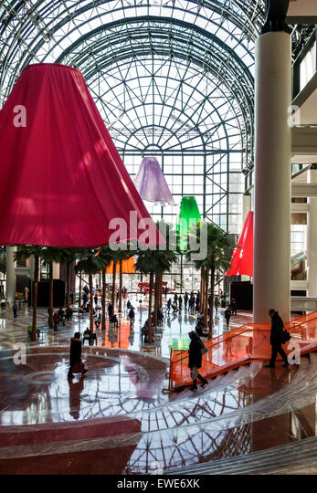 New York City NY NYC Manhattan Lower Battery Park City Brookfield Place shopping center centre inside Arts art artist - Stock Image