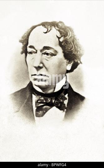 BENJAMIN DISRAELI PRIME MINISTER 01 June 1860 - Stock Image