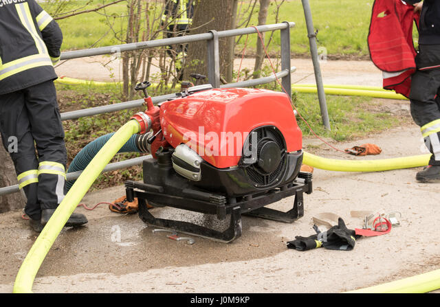 Firefighting, pump, firefighter, austria, emergency, water pump - Stock Image