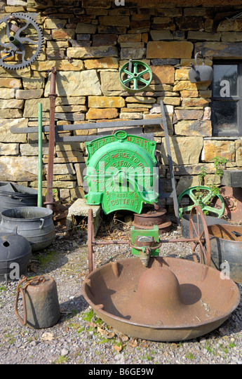 antique agricultural farm implements - Stock Image