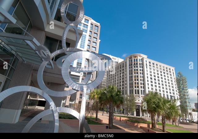 City center of Orlando, Florida, USA - Stock Image
