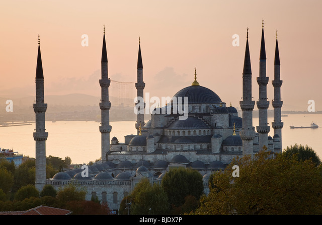 The Blue Mosque, Sultan Ahmet Mosque 1609-1616, Sultanahmet District, Istanbul, Turkey - Stock Image