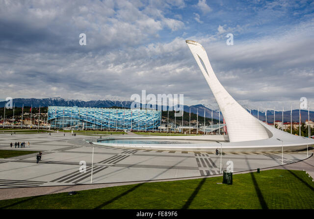 Olympic flame, Sochi - Stock Image
