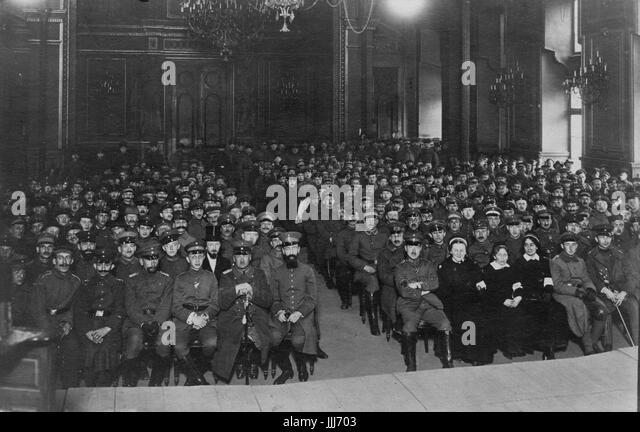Jewish prayers for invading Jewish German soldiers  in WWI for Yom Kippur in Brussels 1915.  Photograph by Julius - Stock Image