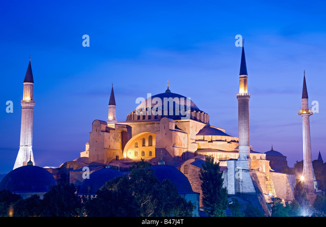 Turkey Istanbul view of the Hagia Sophia Mosque - Stock-Bilder