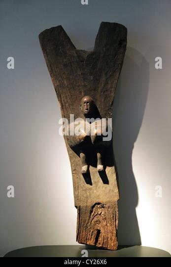 Dogon Toguna pole,Mali,west-Africa. - Stock-Bilder