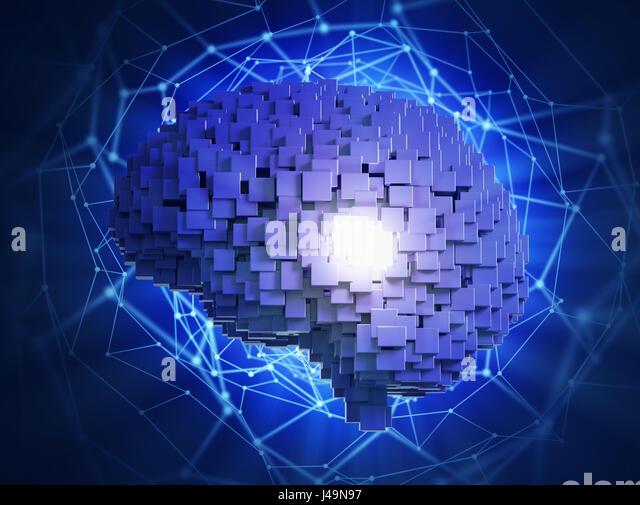 Artificial intelligence concept -3D illustration - Stock-Bilder