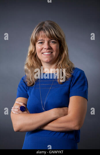 Claudia Hammond, the British author, broadcaster and psychology lecturer, at the Edinburgh International Book Festival. - Stock Image