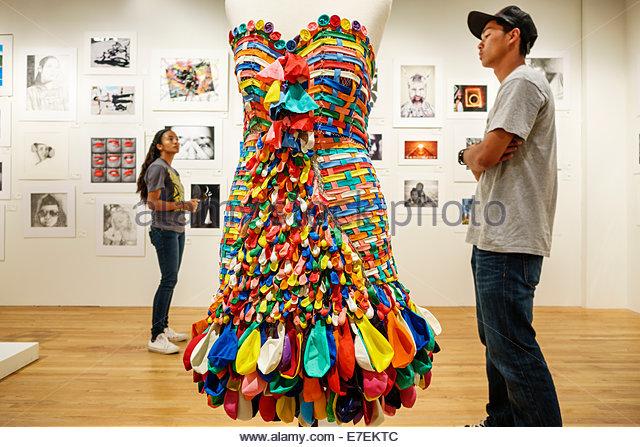 Hawaii Hawaiian Honolulu Hawaii State Art Museum Foundation on Culture and the Arts gallery repurposed balloons - Stock Image