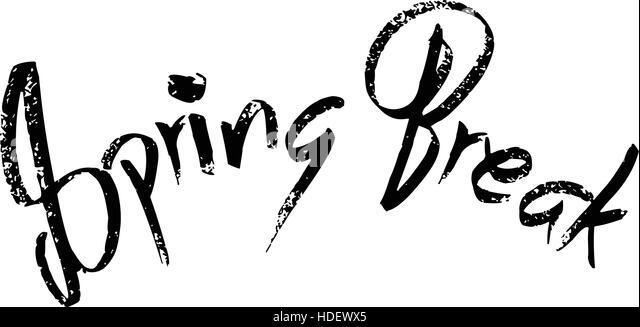 Spring Break sign - Stock Image