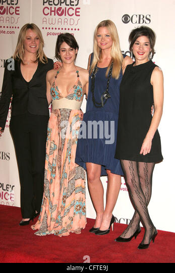 Jan 09, 2007; Hollywood,  USA; Actresses ANDREA ANDERS, LIZZY CAPLAN, JAIME KING and HEATHER GOLDENHERSH at the - Stock Image