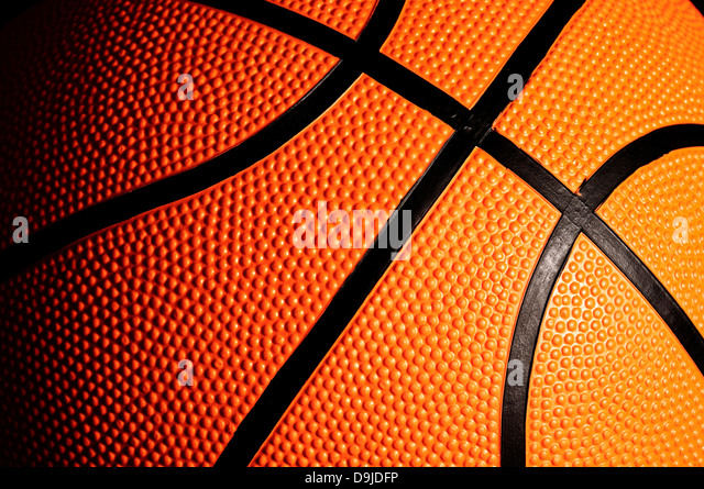 detail of a basketball ball - Stock Image