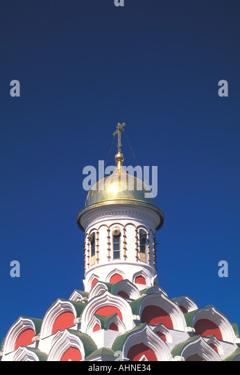 Moscow Russia Kazan Cathedral Red Square - Stock Image