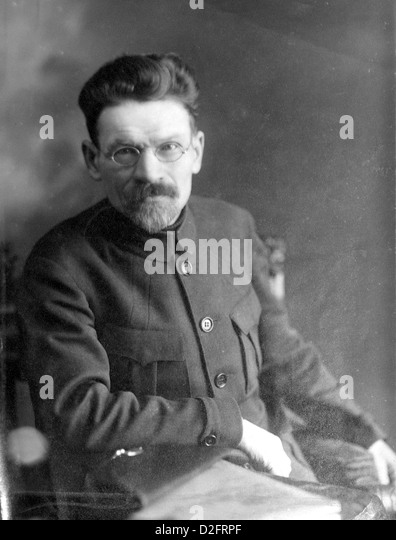 MIKHAIL KALININ (1875-1946) Russian Bolshevik revolutionary about 1920 - Stock Image