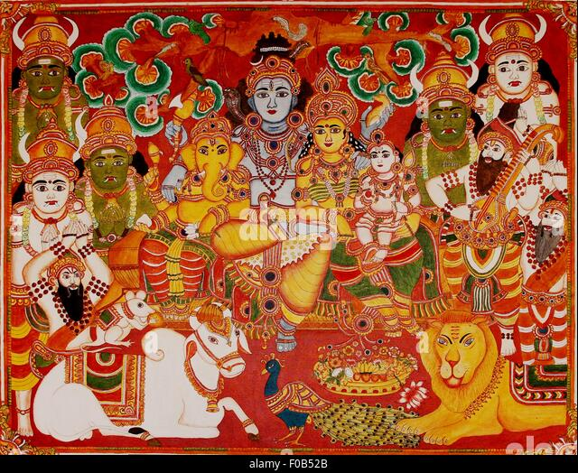 Painting On Canvas Art India Stock Photos Painting On
