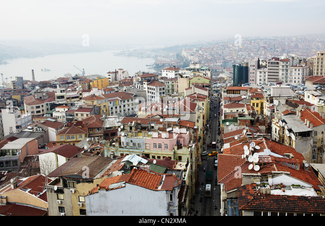 Buildings and rooftops, Istanbul, Turkey - Stock-Bilder