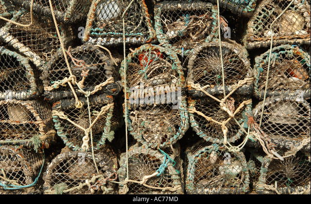 Lobster Creels - Stock Image
