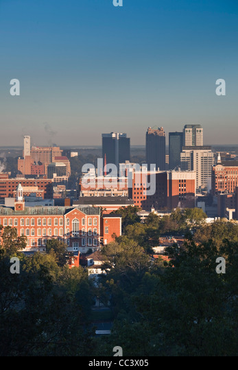USA, Alabama, Birmingham, high angle view from Red Mountain, morning - Stock-Bilder