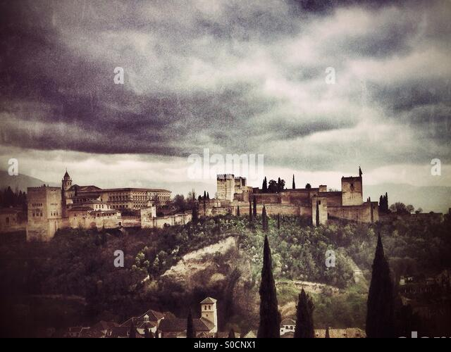 Alhambra Palace Granada, Spain. - Stock Image