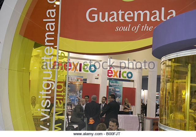 promotion suppliers Latin America Guatemala Mexico displays booth - Stock Image