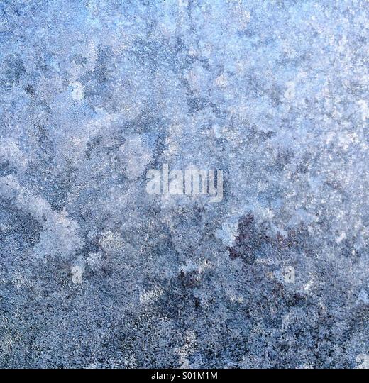 Frosty windscreen - Stock-Bilder