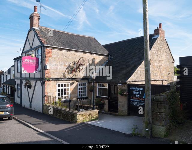 The Wheel Inn in Hollbrook near Belper, Derbyshire, United Kingdom, UK. - Stock Image