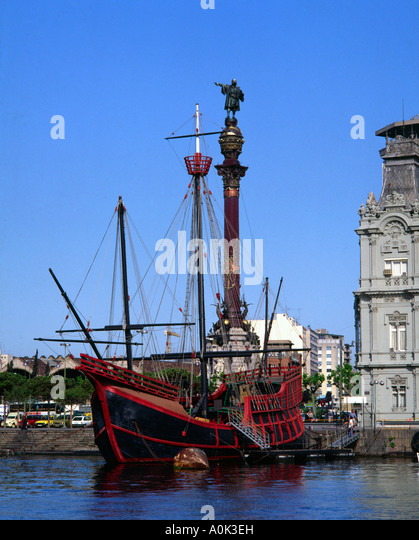 The Santa Maria Barcelona Spain - Stock-Bilder