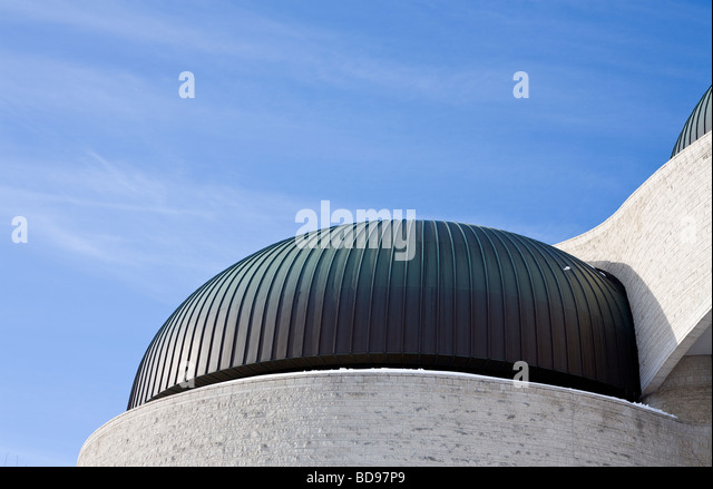 Museum of Civilization Dome. One of the copper topped domes of the Civilization museum. - Stock Image